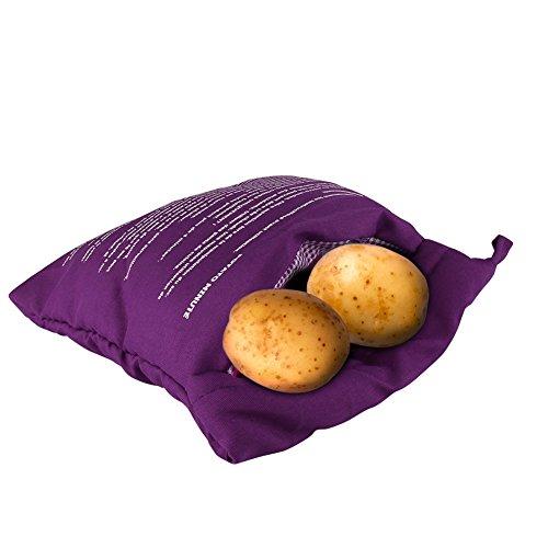 Paracity micro-onde Sac de pommes de terre au four de pomme de terre micro-ondes Express Sac Cuisson Lot de 2 violet