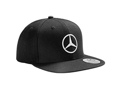 Mercedes Benz Gorra original con visera plana, color negro