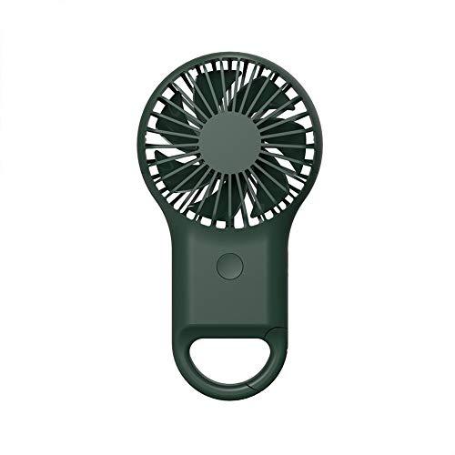 Rayber Miniventilador de mano portátil silencioso USB con mosquetón para espacio de juego para camping al aire libre