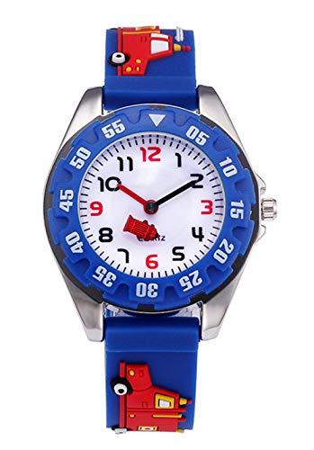 ZAWTR Kinder und Jugendliche Analog Quarz Uhr Sport Wasserdicht mit 3D Cartoon Silikon Armband Teaching Uhren für Jungen Mädchen