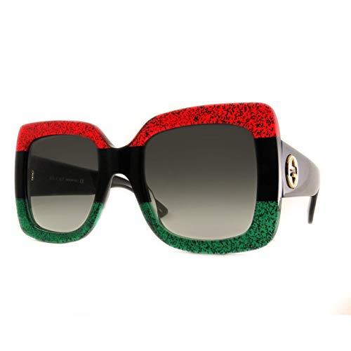 Gucci Sonnenbrille GG0083S-001-55 Gafas de sol, Multicolor (Mehrfarbig), 55.0 para Mujer