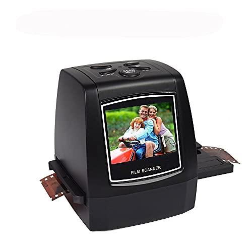 Riiai Escáner de película/diapositivas, Visor de diapositivas Protable, Convertir película negativa de 35 mm/135 mm y diapositiva a JPEG digital y guardar en tarjeta SD