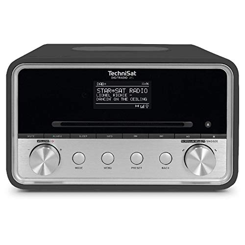 TechniSat DIGITRADIO 585 – DAB+ Hybridradio (UKW, Internetradio, Bluetooth, Spotify, Wireless Charging, Alexa Sprachsteuerung, OLED-Display, CD-Player, USB, MP3, App-Steuerung, Kopfhörer) anthrazit
