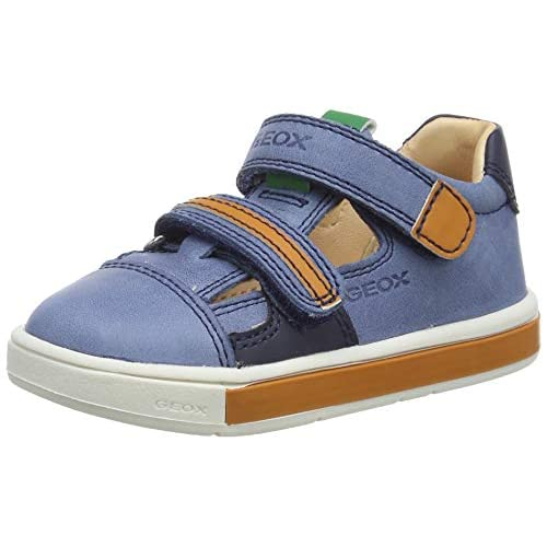 Geox B TROTTOLA Boy C, Sneakers Base Bambino, Blu (Dk Blue/Orange C4M2T), 22 EU