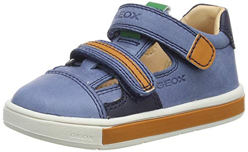 Geox B TROTTOLA Boy C, Zapatillas Bebé-Niños, Azul (Dk Blue/Orange C4m2t), 21 EU