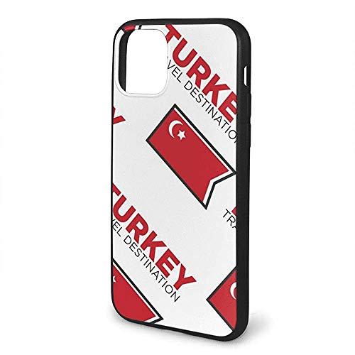 Gustave Tomlinson Türkische Flagge Türkei Reiseziel Handyhüllen für iPhone 11 Pro Max Mobile Shell Rückendeckel Hülle Zelle TPU PC Frame Pro