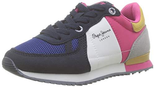 Pepe Jeans London Sydney Basic Girl, Zapatillas Niñas, Navy 595,...