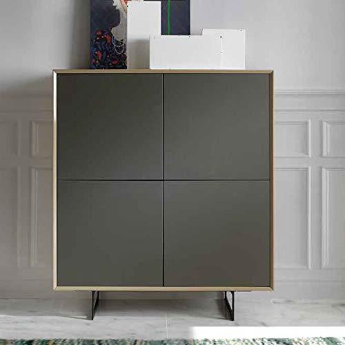 Design dressoir Maite, taupe/grijs