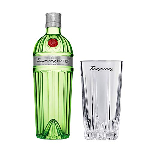 Tanqueray No Ten - Juego de vasos para bar, ginebra destilada, alcohol, botella 47,3%, 700 ml