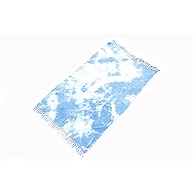 Punics Tie dye Beach Towel 100% Turkish Cotton (Blue)