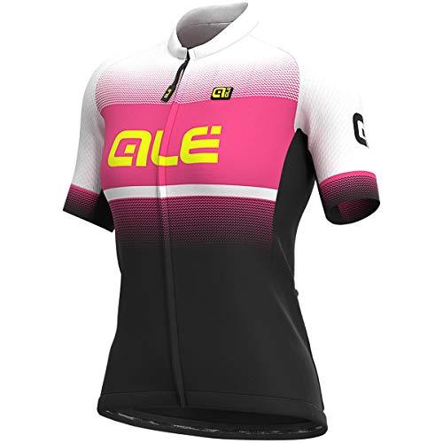 Alé Damen Blend Radtrikot, Black-Fluo pink