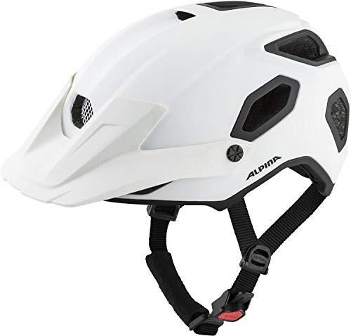 ALPINA Unisex - Erwachsene, COMOX Fahrradhelm, white matt, 52-57 cm