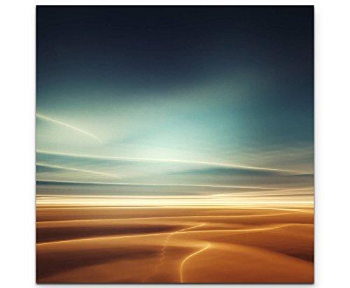 Paul Sinus Art Leinwandbilder | Bilder Leinwand 60x60cm Fantasielandschaft vom Mars