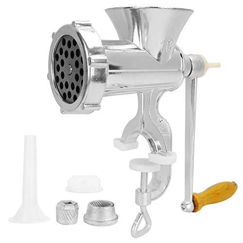 Zwindy Herramienta de Cocina | Máquina Multifuncional de aleación de Aluminio Picadora de Carne Molino de Especias Fabricante de Salchichas para cocinas Familiares y restaurantes.