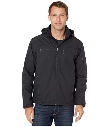 Free Country Super Softshell Jacket with Detachable Hood Jet Black XL