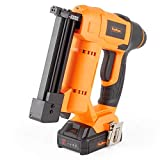 VonHaus 18v Cordless Nail Gun/Brad Nailer - Li-ion Battery Operated – Ergonomic – Medium Duty For Fabrics, Upholstery, Underlay, Carpeting, Roofing Not Suitable For Hard Wood No. 9100100