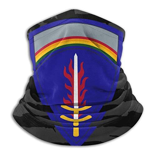 XXWKer Microfibre Chapeaux Tube Masque Visage Tour de Cou Cagoule, United States Army Europe Fleece Neck Warmer Neck Warmer Winter Neck Warmer