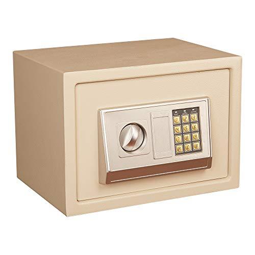 YBWEN Caja de Seguridad Pequeño Completamente de Acero Mini