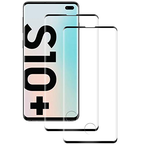 RSSYTZ Cristal Templado para Samsung Galaxy S10 Plus, [2 Piezas] Cobertura Completa, Anti-rasguños, Sin Burbujas, Película Protectora de Vidrio Templado para Samsung Galaxy S10 Plus