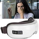 Masajeador de ojos inalámbrico, eléctrico, masajeador de ojos, presión de aire, compresor de calefacción portátil, dispositivo de cuidado de los ojos Bluetooth para aliviar la fatiga ocular