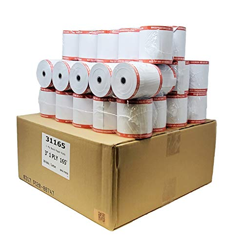 "100 Rolls 3"" x 165' 1-Ply Bond Kitchen Printer Paper sp 700 Premium Quality Blended Bond Receipt Paper POS Cash Register sp700 Printer Ribbon or Printer Ribbon erc30/34/38 [50 GSM] BuyRegisterRolls"