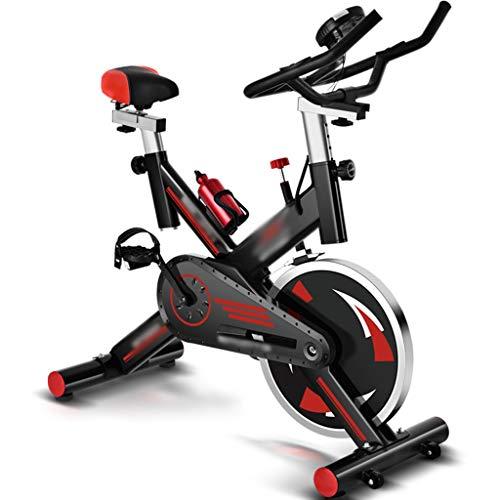 YHRJ Bicicleta de Ejercicio de Interior silenciosa,Bicicleta estática de Oficina con poleas,Equipo de Fitness Ajustable con medidores electrónicos,Puede soportar 150 kg