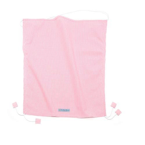 Le Petit Beurre - Toldo universal para cochecito, capazo, capazo, 100% algodón orgánico GOTS 60 x 70 cm, diseño de cuadros, color rosa