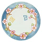 THUN - Piatto Multiuso con Farfalle - Piatto da Portata - Idea Regalo - Linea Color Your Easter - Porcellana - Ø 21,4 cm, 2 h cm