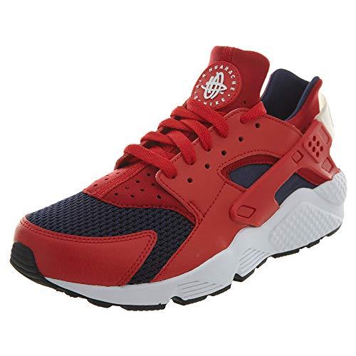 Nike Hombre Air Huarache Leather Textile Red White Entrenadores 43 EU