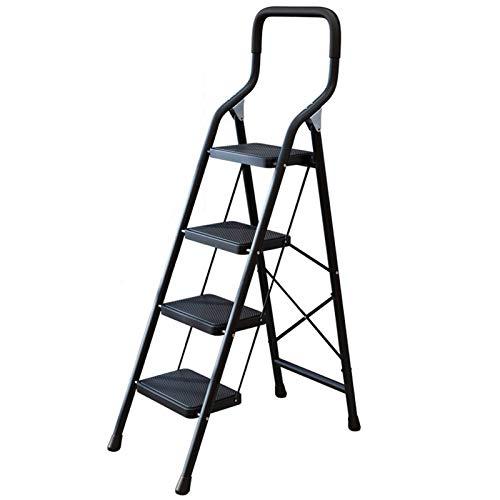 LWH Escalera Plegable de 4 peldaños Escalera de aleación de Aluminio 140X75X40...