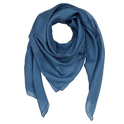 Superfreak Baumwolltuch - blau - petrol - quadratisches Tuch