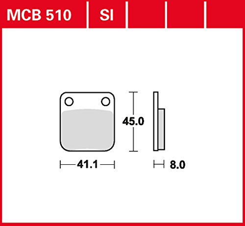 plaquette de freins Lucas MCB510 pour Daelim Cordi 50 SE4 | Daelim Freewing 125 Fi SA4 | Daelim History 125 SL | Daelim NS 125 SG125F | Daelim Otello 125 SA7 | Daelim Otello 125 SG125F | Daelim S-Five 50 SE1 | Daelim Tapo 50 GZ50GF | Dael