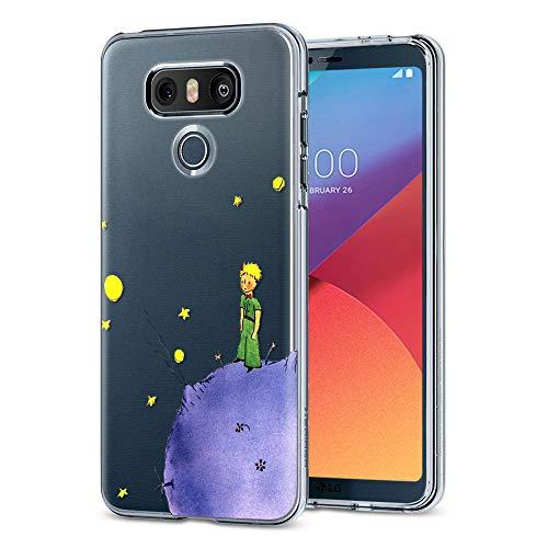 YOEDGE Funda LG G6 Ultra Slim Cárcasa Silicona Transparente con Dibujos Animados Diseño Patrón [El Principito] Resistente Bumper Case Cover para LG G6 Smartphone (Púrpura)