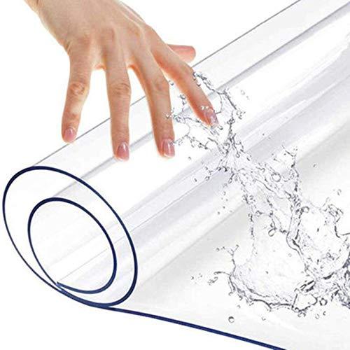JKLJL Tappeto in Plastica PVC Ingresso Camera da Letto Computer Sedia Girevole Pavimento in Legno Trasparente Tappetino Protettivo Tavolino Impermeabile Tovaglia(0.5mm)
