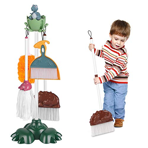 Kids Cleaning Set Housekeeping 6 PCS Pretend Play Educational Cleaning...