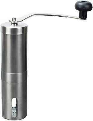 YongFeng 手動コーヒーグラインダー、金属のシンプルで寛大な旅行ホームセラミック研削コア手動コーヒーグラインダー、48x190mm 手動コーヒーグラインダー (Color : Silver)