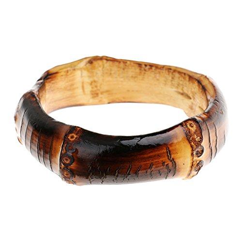 MagiDeal Verkohlt Bambus Armband Armkette Armreif Armring Armspange Unisex Schmuck Zubehör