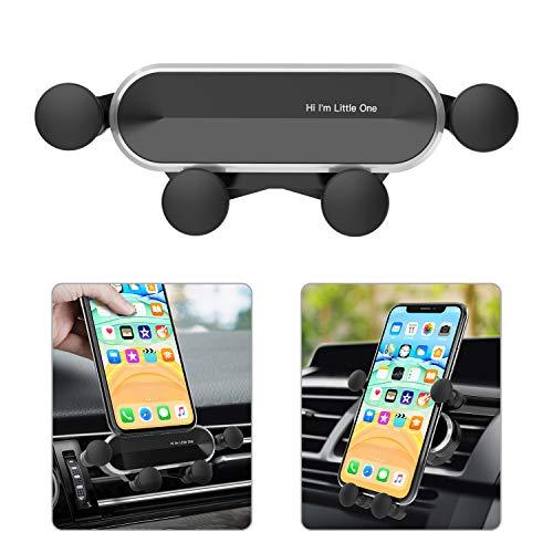Ossky Soporte Móvil Coche, Universal Soporte Móvil Coche ventilacion Gravedad, Porta Movil Coche para Rejillas del Aire de Coche para iPhone 12 Pro, Samsung, Huawei, de 4.7 a 6.5 Pulgadas Negro-Nuevo