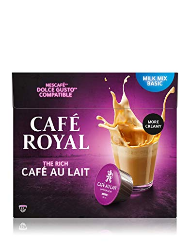 Café Royal Café au Lait 48 Nescafé®* Dolce Gusto®* kompatible Kaffeekapseln, 3er Pack (3 x 16 Kapseln)