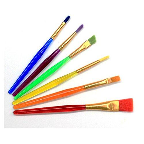 Ssowun Fletion 6 pièces Pinceaux Brosses Professionnels de Peinture Ensemble de Rond à Pointes Nylon Cheveux Artistique Brosse Pinceau de Peinture à l