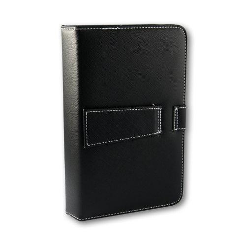 Afunta 25,65 cm Universal Tablet Ledertasche mit Tastatur/Halterung für 25,4 cm Tablet PC with Micro USB Keyboard