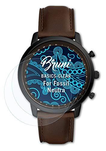 Bruni Schutzfolie kompatibel mit Fossil Neutra Folie, glasklare Bildschirmschutzfolie (2X)