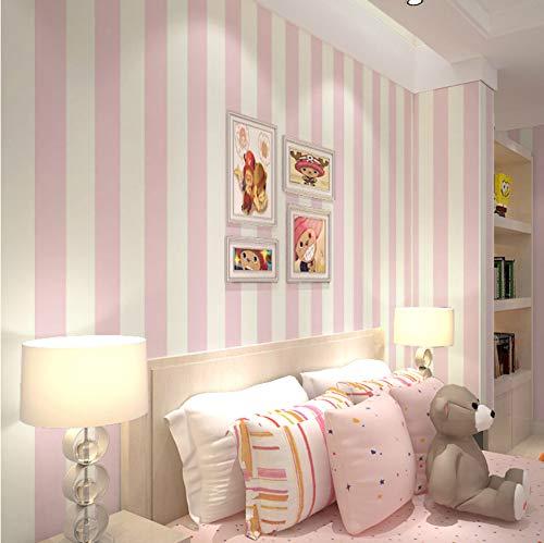 Svsnm Rosa Streifen Tapeten Für Wände Vertikale Gestreifte Tapeten 3D Für Mädchen Raum Nicht Gewebte Tapete Gestreiften 0,53X10 Mt