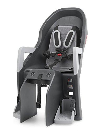 Kindersitz Polisport Guppy Maxi CFS dunkelgrau/silber,Befestig. Gepäckträger 2123501400