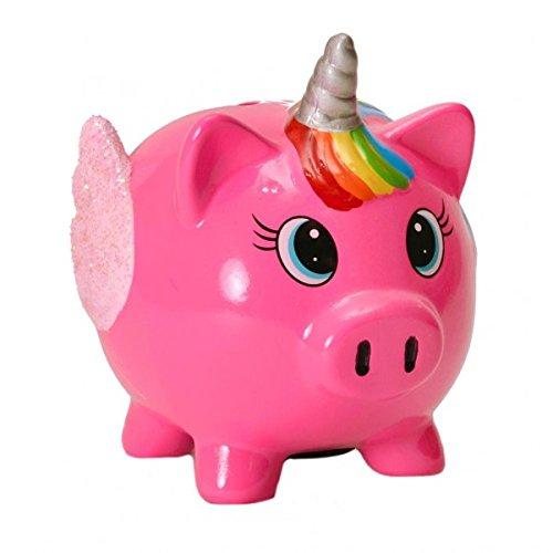 Mini Schwein Einhorn Spardose in pink - Mini Schweinhorn Sparschwein Sparbüchse