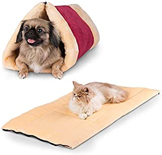 Pet Bed and Mat - Cuddly Self Heated - Washable Comfy House for Kittens, Cats, Dogs & Puppies - Get The Most Warm Cozy & Comfortable Shelter for Your Animal