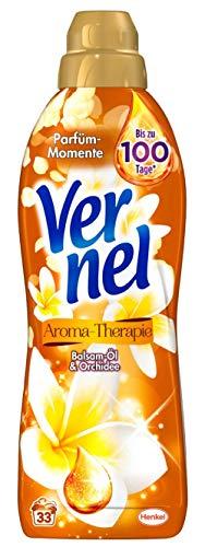 Vernel Aroma-Therapie Balsam-Öl & Orchidee, Weichspüler, 132 (4 x 33) Waschladungen, für einen langanhaltenden Duft