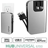 myCharge HUBPLUS 6700mAh Portable Power Bank with 3 USB Charging Ports