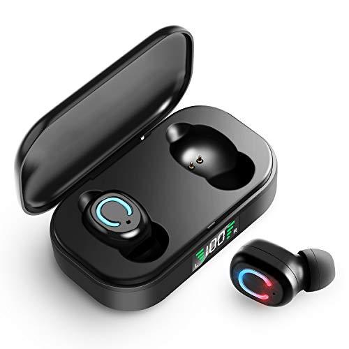 Elrigs Bluetooth Kopfhörer mit Soliden Bass, Headset Kabellos, In Ear Ohrhörer Sport mit Mikrofon Wireless Ohrhörer 35 Std. Spielzeit, IPX7 Wasserdicht, Stereoanrufe,TWS, für iPhone, Smartphone
