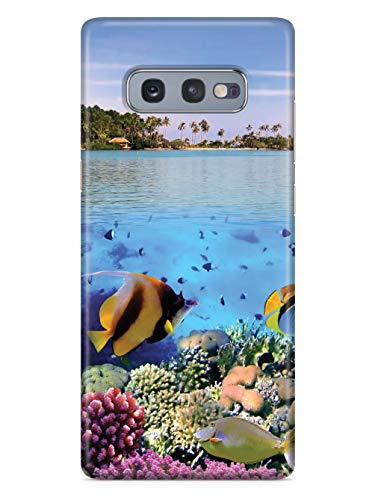 Inspired Cases - 3D Textured Galaxy S10e Case - Rubber Bumper Cover - Protective Phone Case for Samsung Galaxy S10e - Tropical Paradise - Underwater Scene